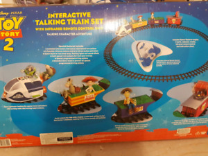 Great Christmas gift . Toy story 2 Talking Train set