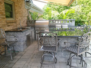 Outdoor kitchens/sidewalks & Fire pits London Ontario image 1