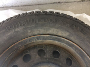 Set of 4 65R15 winter tires and rims