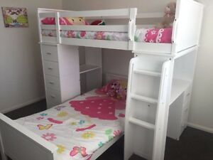 Kids Manhatten Bunk / Loft bed with two mattresses and chair Parkinson Brisbane South West Preview
