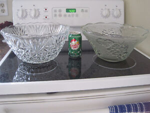 Large Bowls, serving tray, thick glass beer mugs