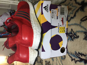 Ultra boost red size 8 DS with tags and receipt