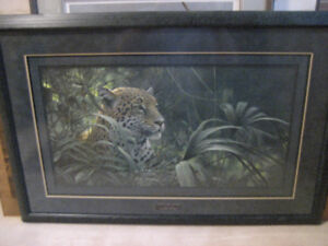 """REDUCED"" ROBERT BATEMAN SYMBOL OF THE RAINFOREST LE FRAMED"