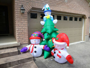 Brand New Gemmy Airblown Inflatable 8 Foot Tall Snowman & Tree Kitchener / Waterloo Kitchener Area image 3