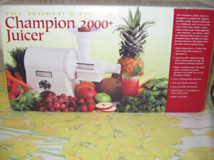 Silver Champion juicer 2000+ with Grainmaster G-90 attachment