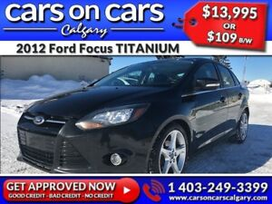 2012 Ford Focus TITANIUM w/Leather, Sunroof, Park Assist $109 B/
