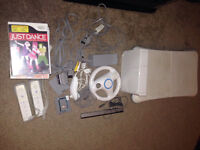 Nintendo wii console wii fit games bundle