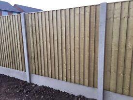 🔨🌟Heavy Duty Tanalised Vertical Board Flat Top Fence Panels