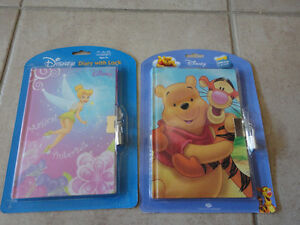 Lot of 2 brand new winnie the book diary journal with lock key