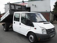 FORD TRANSIT CREW D/CAB ONE STOP DROPSIDE TIPPER, 86K MILES, BEST TIPPERS IN UK!