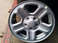 New set of Jeep, Chrysler OE Mopar steel rims with, with TPMS