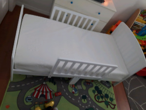 Toddler bed and mattress