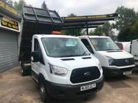 2015 65 FORD TRANSIT DROPSIDE TIPPER 125PSI VERY LOW MILES