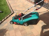 Bosch cordless lawnmower with lithium battery & Charger