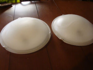 """2 CEILING 16"""" ROUND DOME LIGHTS FLUSHMOUNT LIKE NEW, $10.00 EACH"""