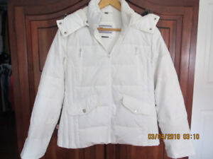 Ladies White Nuage Down Filled Winter Coat - Small (fits li