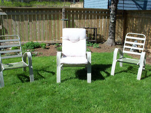 FOR SALE:  Four Lawn Chairs with Cushions