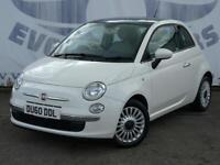 2010 FIAT 500 1.2 LOUNGE GLASS PANORAMIC ROOF AUX AND USB 5 SERVICE STAMPS LOW M