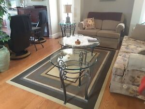 Matching Glass Coffee & End Tables
