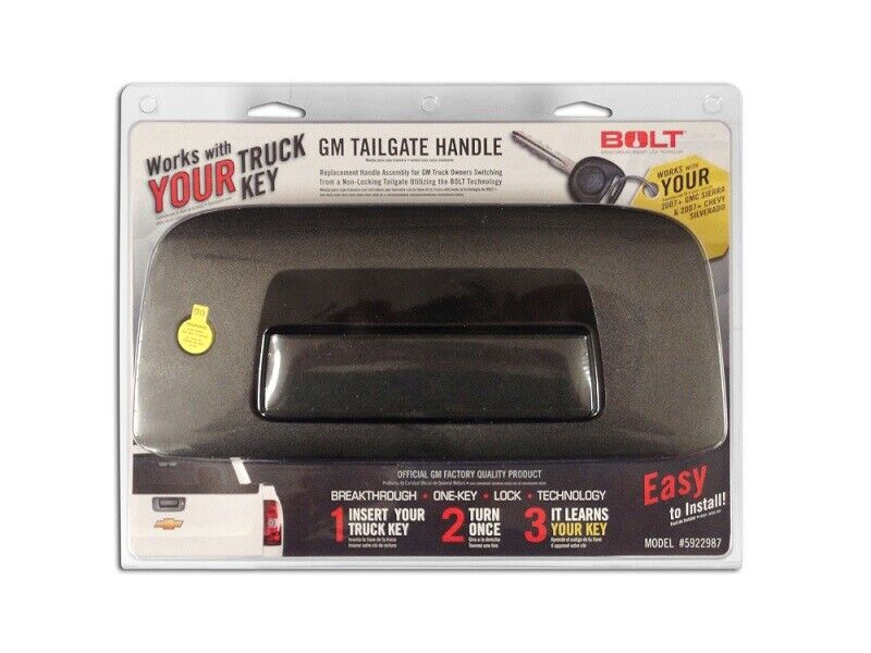 BOLT 5922987 GM tailgate handle - includes cylinder (late model)