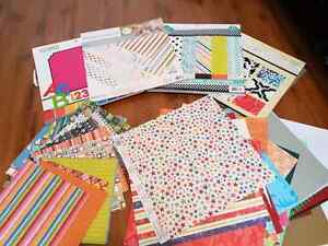 Scrapbooking paper and punchouts