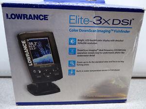 Lowrance Elite-3X DSI Color Sonar 3-Inch Fishfinder Brand New !