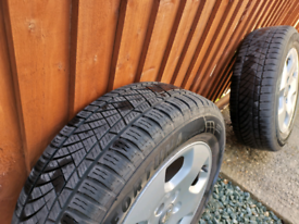 Genuine Audi alloy wheels with tyres