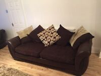 Dfs Shannon 4 seater sofa, cuddle chair, 1 storage footstall and 1 half moon footstall