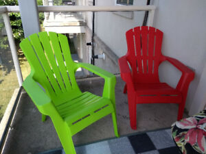 Adirondack patio chairs and cushions