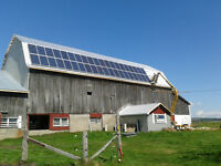 Solar Panels, Batteries, Charge Controllers, Inverters