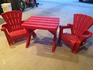 Kids table and 2 chairs $25 Regina Regina Area image 1