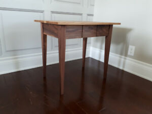 Handcrafted White Oak and Walnut Side Table