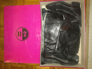 USED! Made in Italy ladies leather boots, size 41, black colour