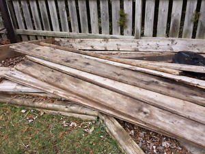 pile of wood boards