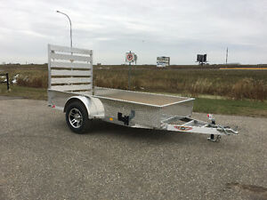 New 2017 All Aluminum 5x10 single axle utility traier