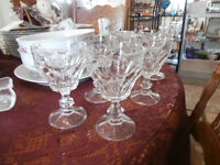 Vintage Heavy Set of Glass Stemware