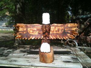 Chainsaw Art, Big Winged Eagle Windsor Region Ontario image 2