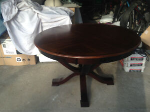 Round Wooden Dining Table and 4 Chairs