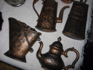 Lot of Assorted Vintage Items - EPNS, copper, wall decor, glass London Ontario image 3
