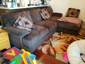 Living Room couch (Love seat + chaise) for sale [$700 O.B.O.]
