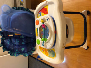 High chair, bouncer activity Centre and more items  for sale