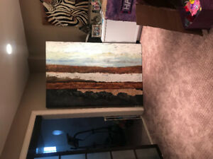 Huge canvas painting purchased for $300 plus tax at home sense.