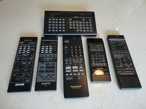 Various Older remote Controls All work great Sears,Sanyo,Technic