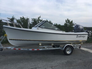 2017 19ft seabreeze with 90 hsp Yamaha motor and trailer