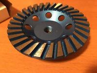 "Turbo Diamond Grinding Cup Wheel 5"" and 6"" - 5/8"" - 11 Threads"