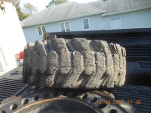 Bobcat/Skidsteer tires and rims two- 31 x 6 x 10 16.5 8 stud