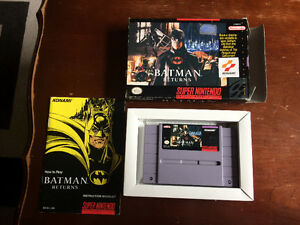 Batman Returns Super Nintendo SNES with box