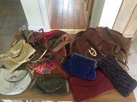 Selection of handbags and purses