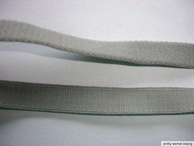 10m Gummiband 0,23€/m grau  10mm breit ED37