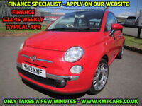 2012 Fiat 500 1.2 LOUNGE - ONLY 36000mls Full Service Hist £30 Road Tax KMT Cars